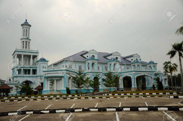 40678869-Il-Sultan-Ismail-moschea-noto-anche-come-Muar-secondo-Jamek-Mosque-situata-a-Tanjung-Agas-Muar-Johor-Archivio-Fotografico